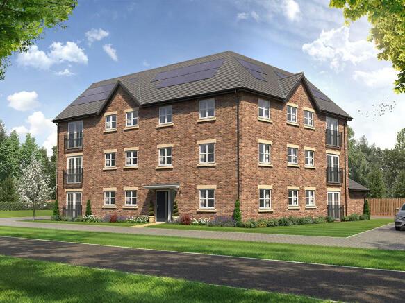 External CGI of Apartment Block B