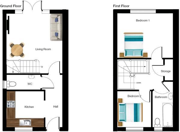 2 Bed Semi - Left