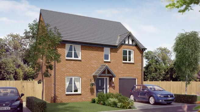 The Rosebury at Pomegranate Park new home for sale in Chesterfield