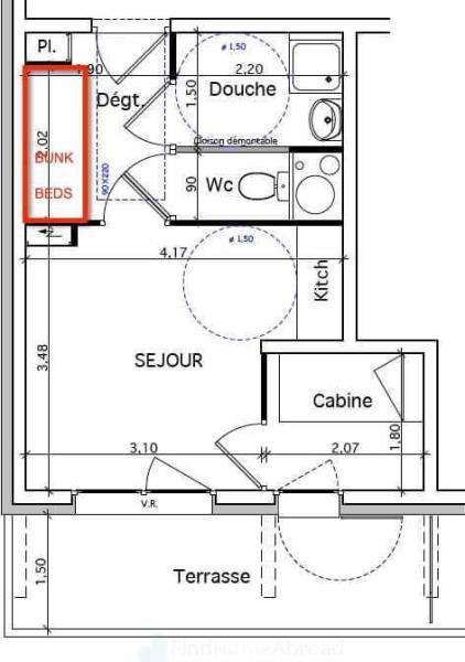 Studio + cabine