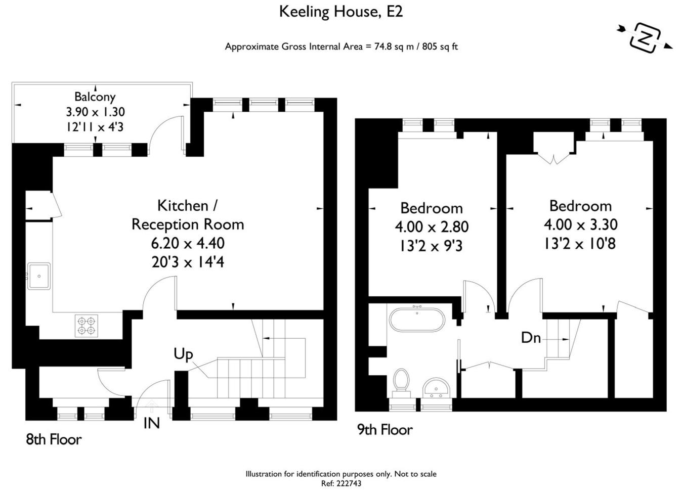 2 bedroom duplex for sale in keeling house claredale street london e2 e2