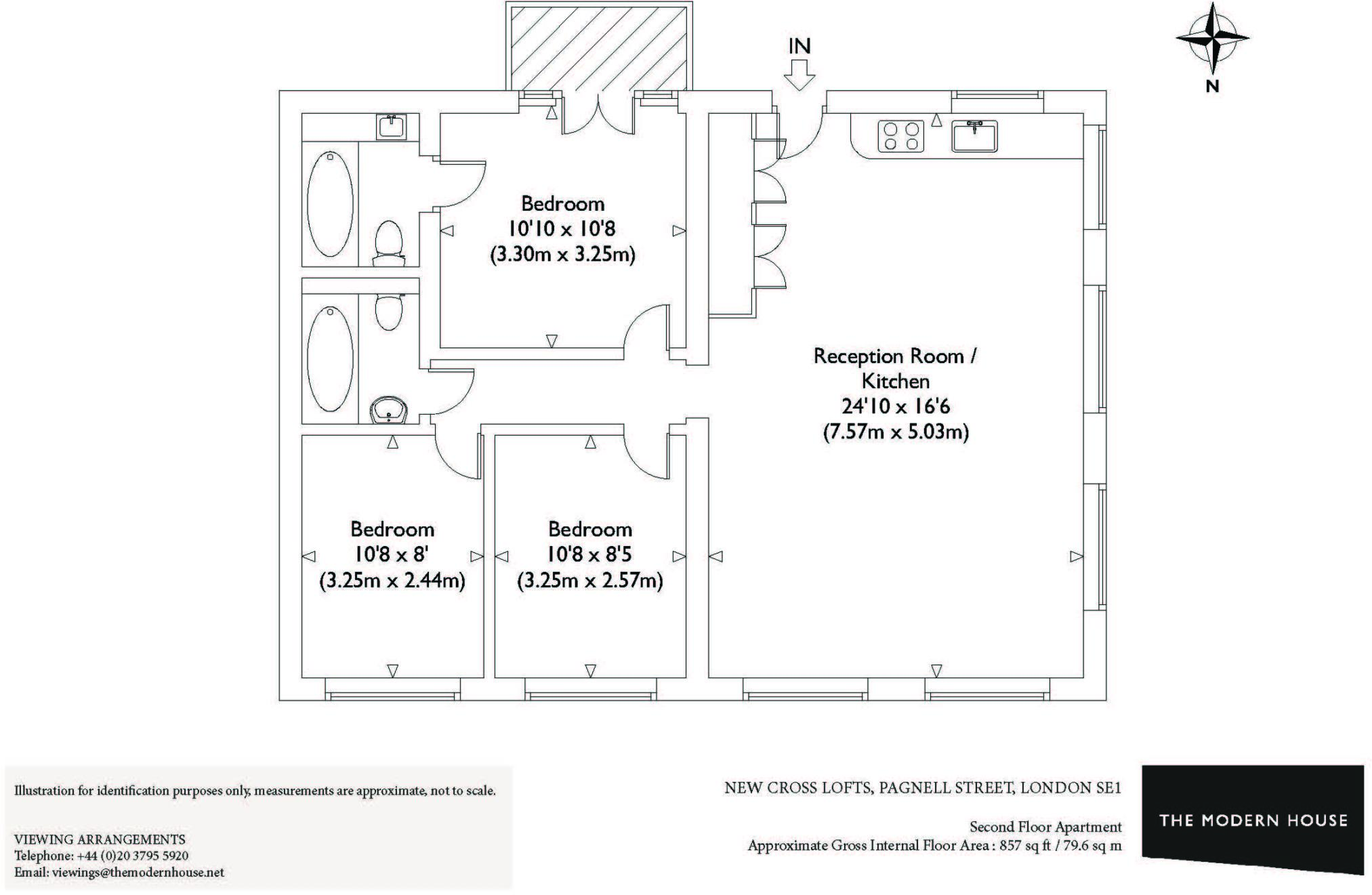 3 bedroom apartment for sale in new cross lofts pagnell street london se14 se14