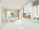 Light and spacious kitchen/dining area with French doors
