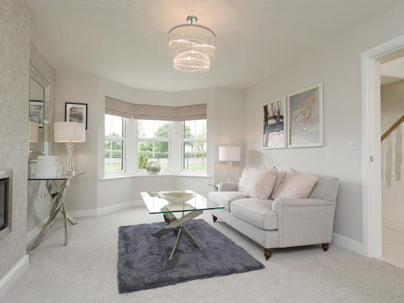 Feature bay window in the living room