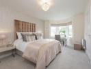 Master bedroom with en suite and bay window