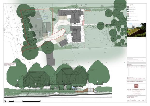 Proposed Site Plan and Street Scene