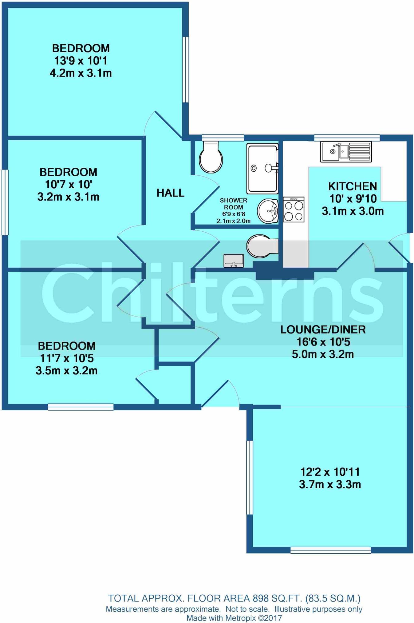 3 bedroom detached bungalow to rent in Sharpes Corner, Lakenheath, IP27
