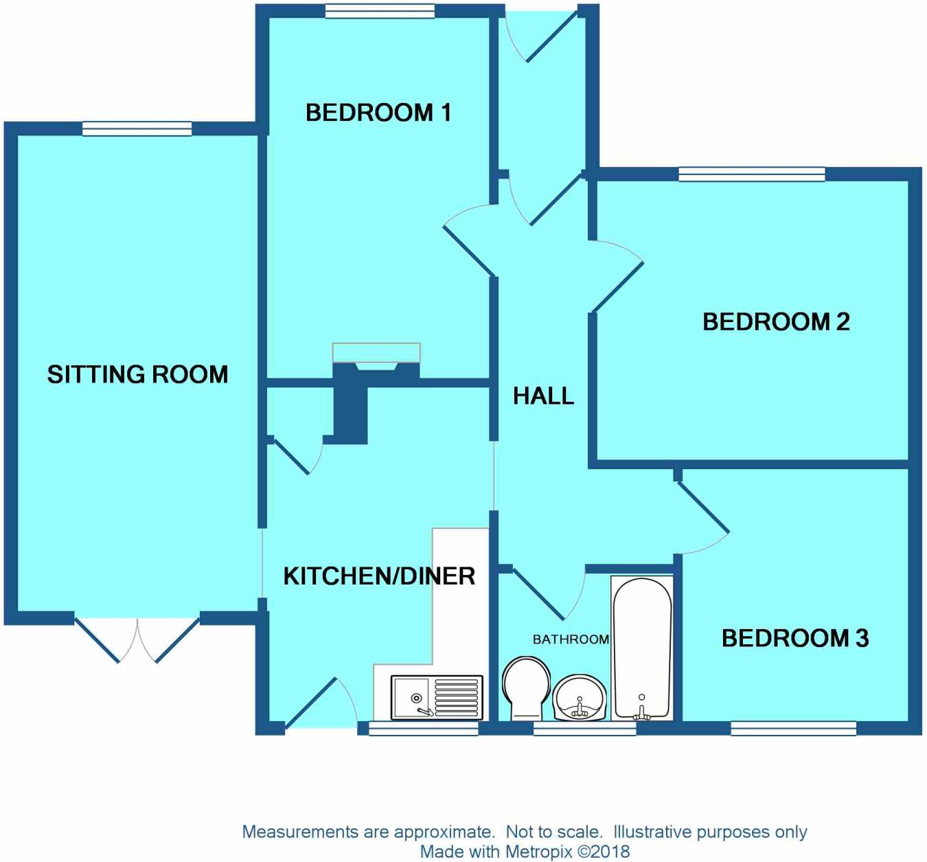 3 bedroom detached bungalow for sale in St Stephens Crescent ...