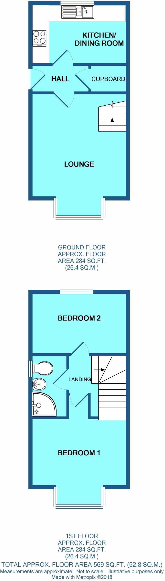 2 bedroom end of terrace house to rent in Riverside Way, IP27