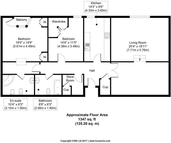 Floor plan 76 West Quay