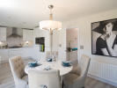 Light and spacious kitchen/dining area
