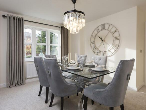 Spacious separate dining room