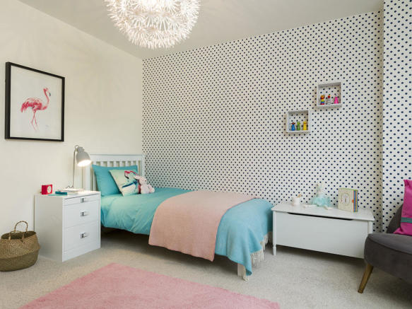 Stylish fourth bedroom