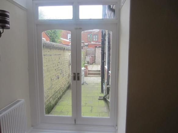 Patio doors to rear