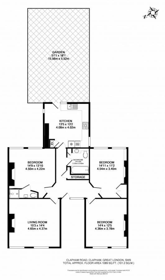3 Bedroom Apartment To Rent In Clapham Road Clapham London SW9 SW9