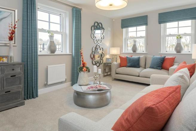 Spacious, dual-aspect lounge - ideal for relaxing with family and friends