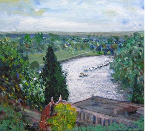 Painting of view by