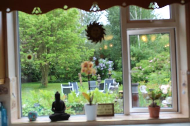 View of garden from kitchen window