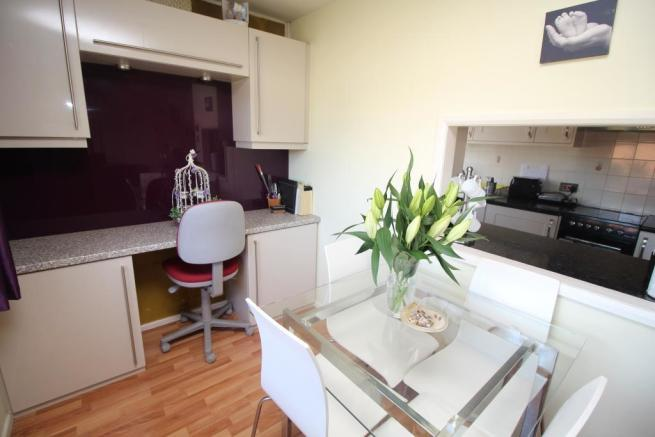 Dining Area with fitted Office Area