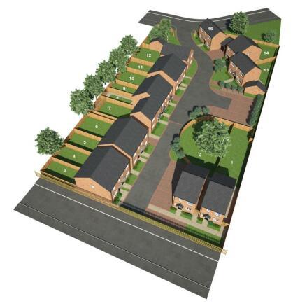 O'Flanagan Homes - Princethorpe Way - 3D Site View