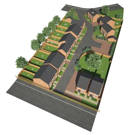 O'Flanagan Homes - Princethorpe Way - 3D Site View