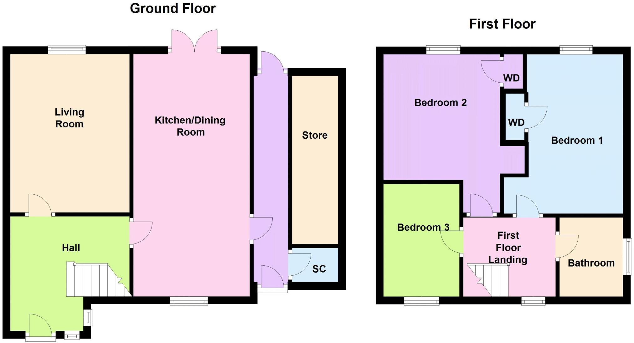 3 Bedroom Semi Detached House For Sale In Shetland Way Corby Nn17 Cost Of Rewiring A Bed Uk