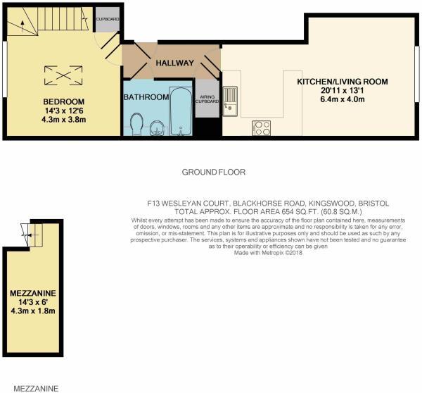Flat 13 floor plan