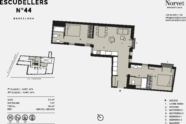 2 bedroom apartment for sale in barcelona barcelona catalonia spain - Norvet barcelona ...