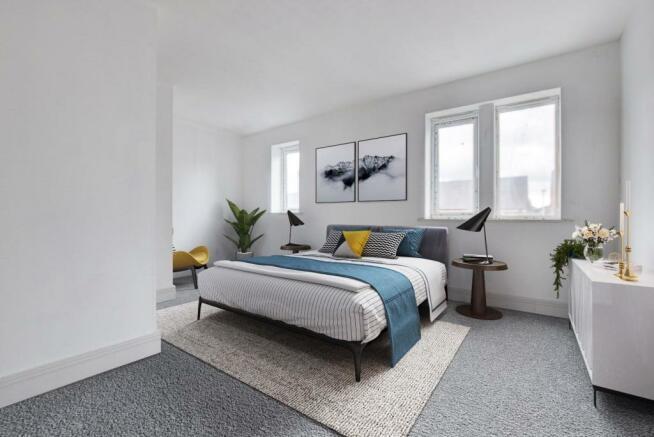 Virtual Staged Main bedroom