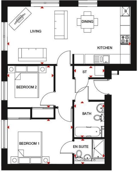 Rougvie floor plan