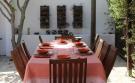 dining outside villa