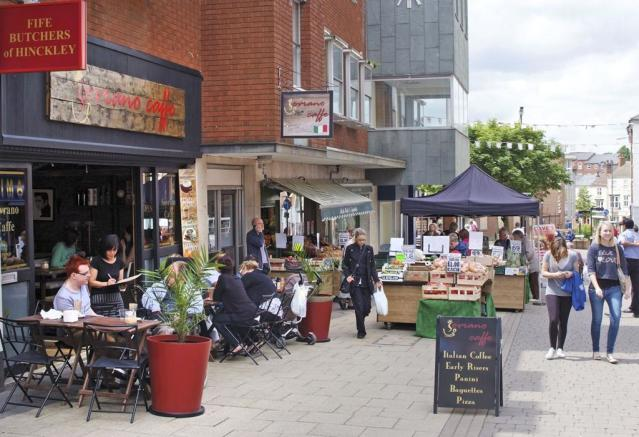 Nearby Hinckley town centre