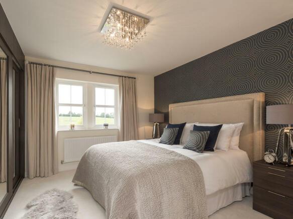 Spacious double bedroom with en-suite