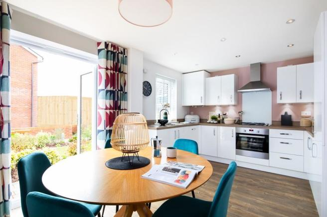 Inside view of the open plan kitchen. Maidstone. 3 bed home.
