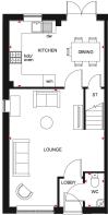 Floorplan of the Maidstone. Ground floor.