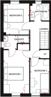 Floorplan of the Maidstone. First floor.