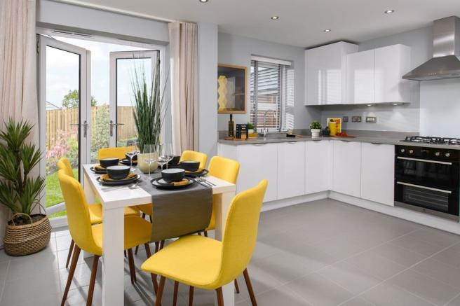 Inside view Maidstone kitchen diner 3 bed home