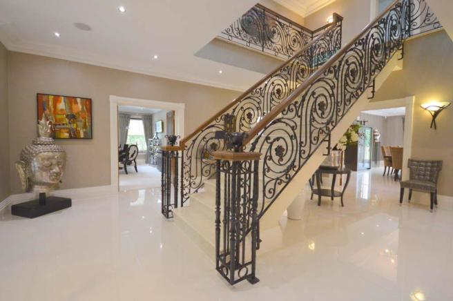 Wrought Iron & Marble Staircase