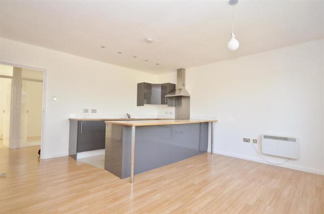 Open plan Kitchen to Living room
