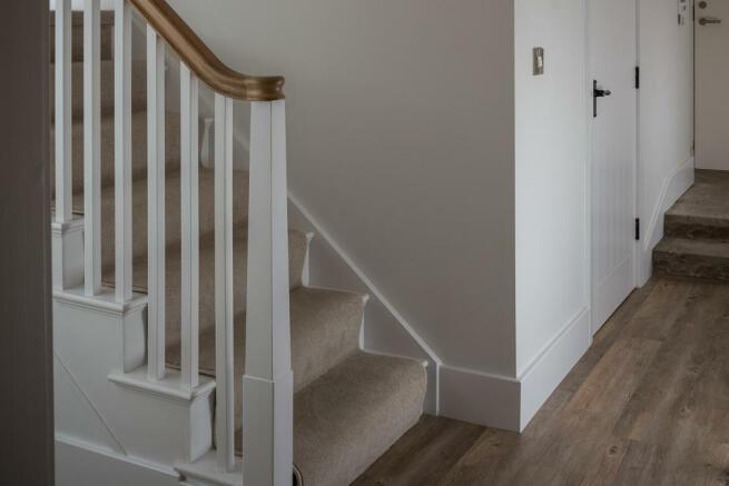 Oak/painted stairs
