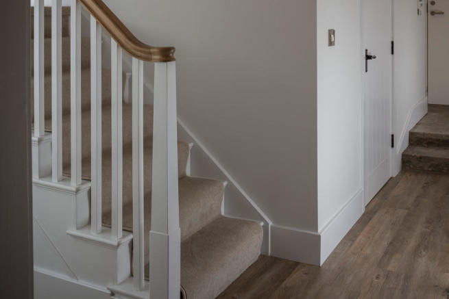 Oak/painted stairs