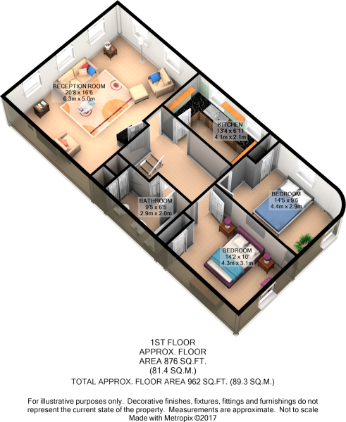 First Floor 3D Plan