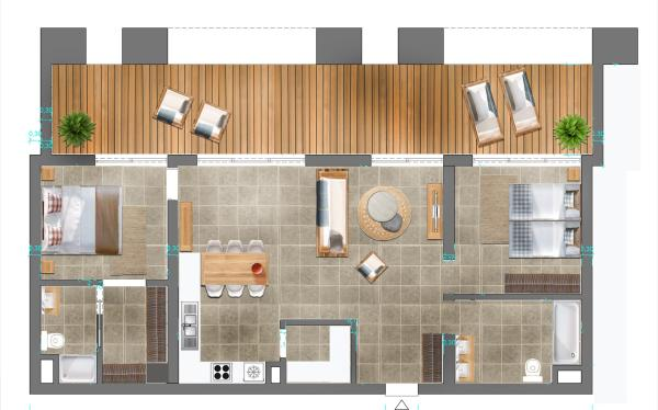 Foorplan 2 bedrooms