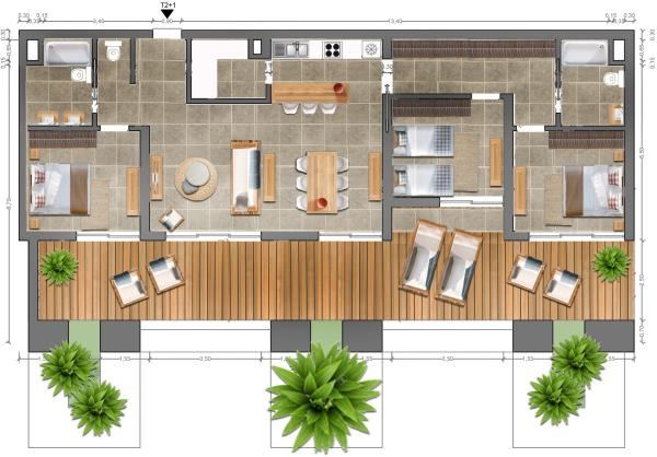 Foor plan 3 bedrooms