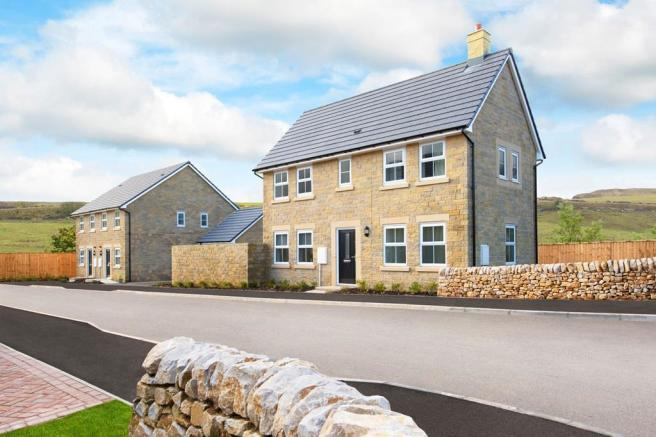Outside image of the Ennerdale 3 bedroom detached home at High Peak Meadow