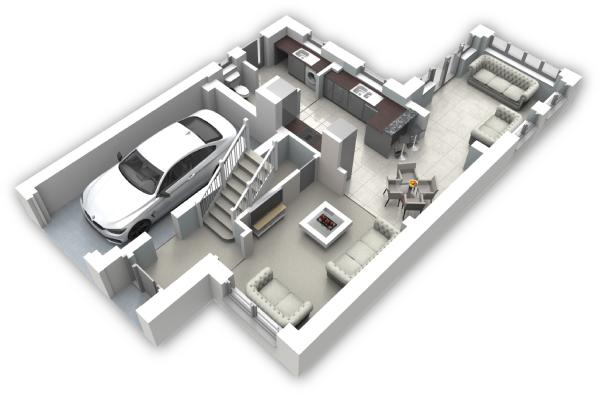 Ground floor 3D