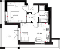 Floorplan for Plot 174 The Courtyard