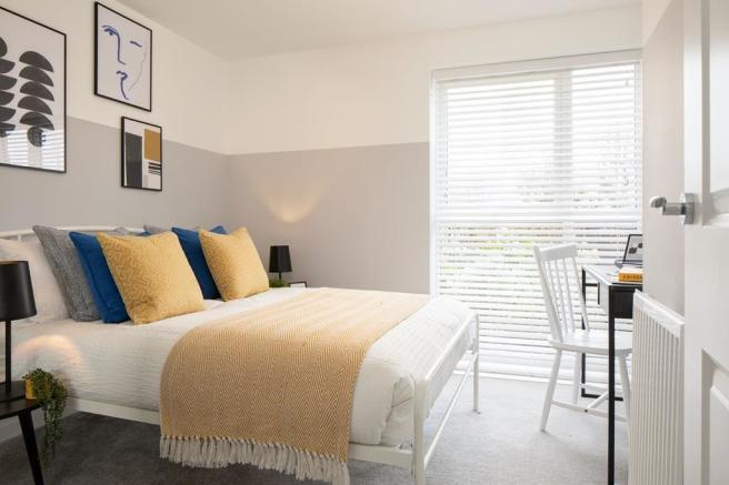Inside view of the second double bedroom in the Coleford - 2 bed apartment.