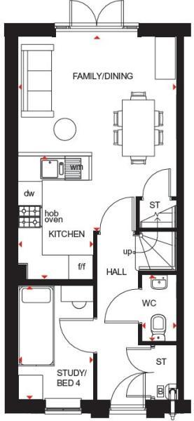 Hawley ground floor plan