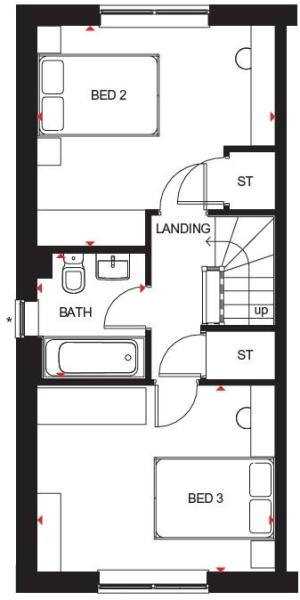 Hawley second floor plan